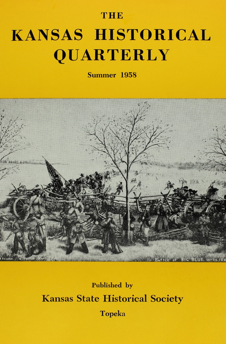 Kansas Historical Quarterly, Summer 1958