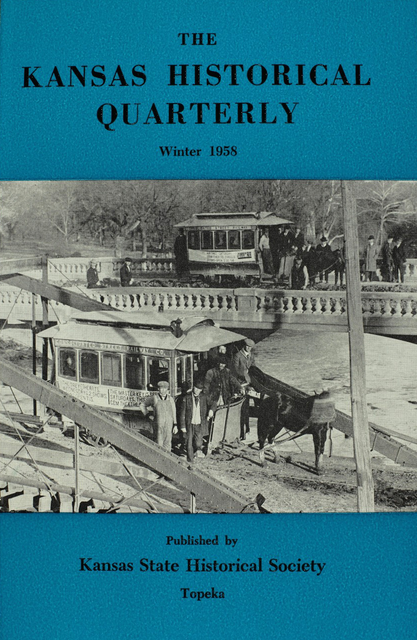 Kansas Historical Quarterly, Winter 1958