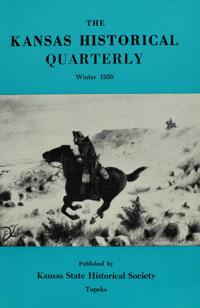 Kansas Historical Quarterly, Winter 1959