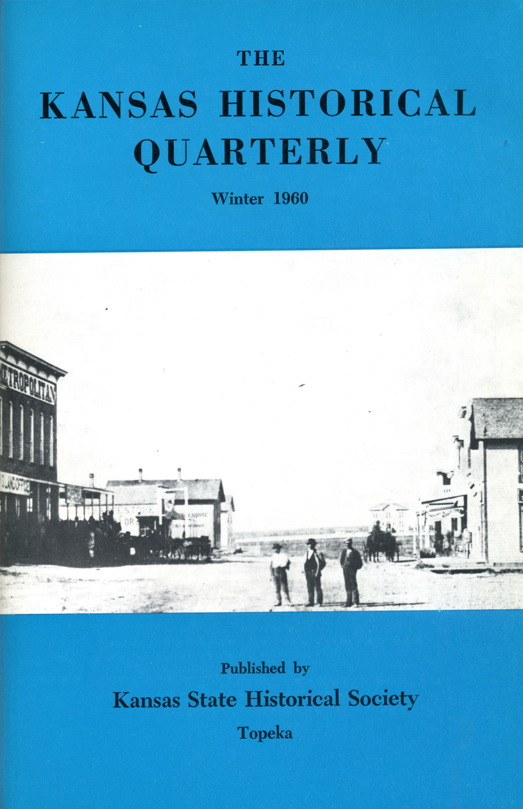 Kansas Historical Quarterly, Winter 1960