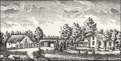 Peter Bryant's Farm Buildings in 1881