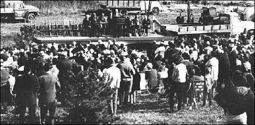 Battle of Mine Creek centennial observance, 25 Oct 1964