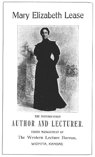 Mary Elizabeth Lease, Author and Lecturer