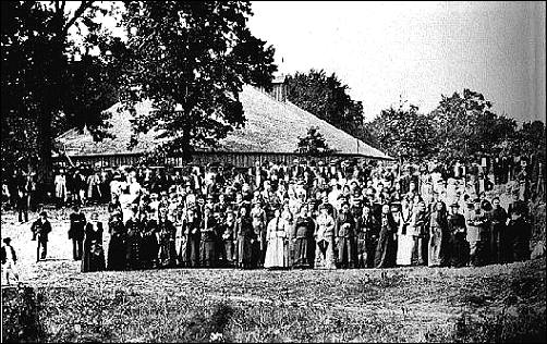 Women at the Bismarck Grove old settlers meeting 1879