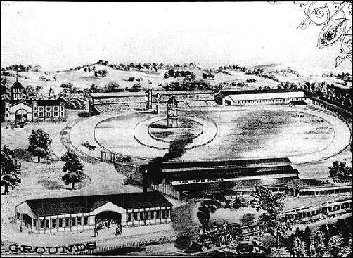 General view of Bismarck Grove grounds in 1882 (right section)