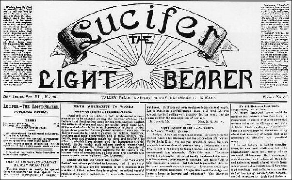 <EM>Lucifer</EM> the Light Bearer, masthead, Dec. 6, 1889