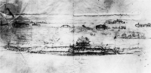 Ado Hunnius Sketch of Fort Zarah area