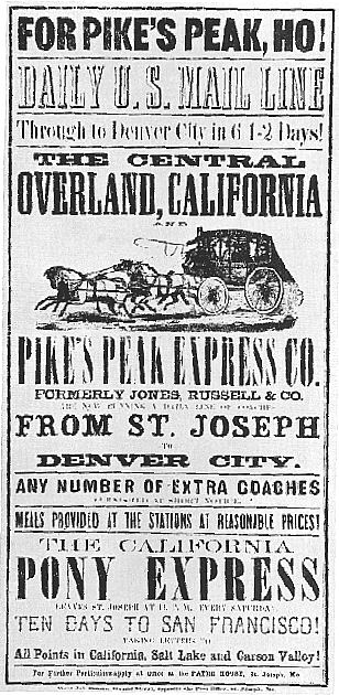 Pikes Peak Ho! -- 1860 travel circular