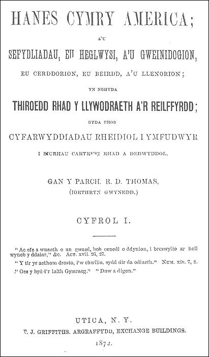 First page of R. D. Thomas' book