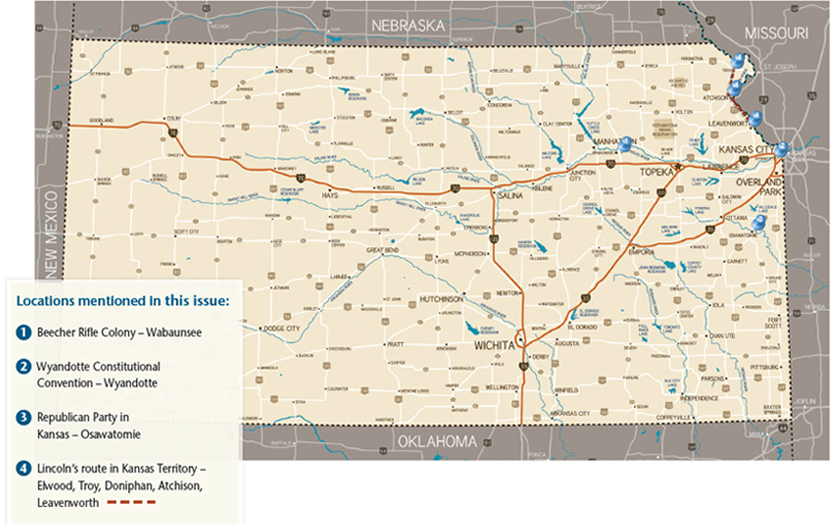 Abraham Lincoln issue map