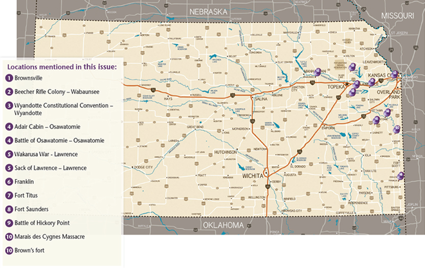 John Brown issue map