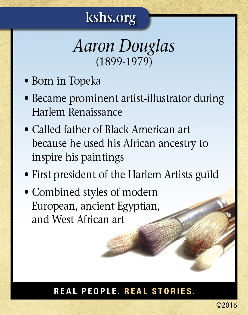 a biography of aaron douglas Aaron douglas arrived in harlem in 1925, where he put his skills to use as a graphic designer and an illustrator douglas' images graced the covers of the naacp's journal the crisis , as well as the national urban league's publication, opportunity.