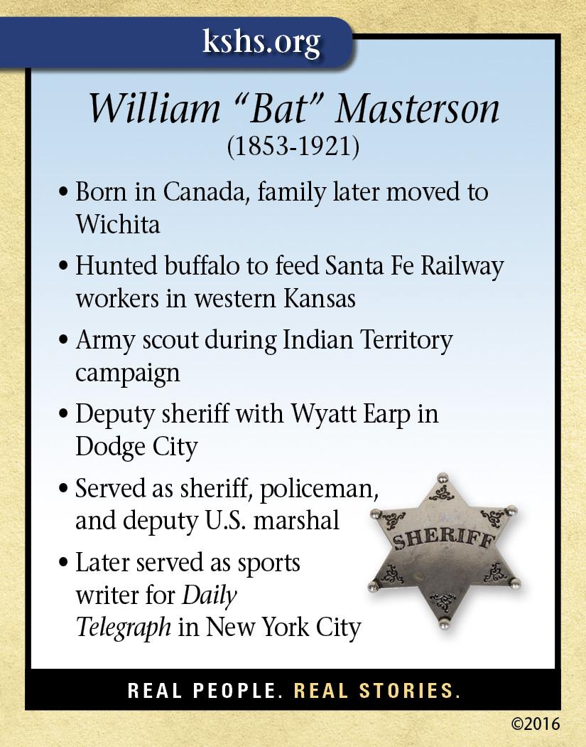 William Quot Bat Quot Masterson Kansas Historical Society