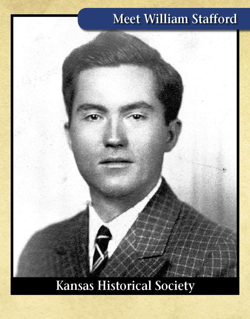 Trading card with photo of William Stafford
