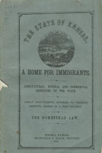 Guide for immigrants to railroad land in Kansas