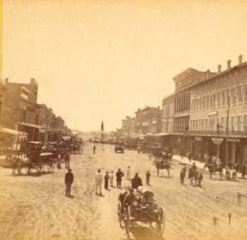 Massachusetts Street, Lawrence, Kansas, 1867