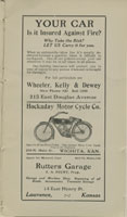 Advertisement for Hockaday auto supply store, Wichita