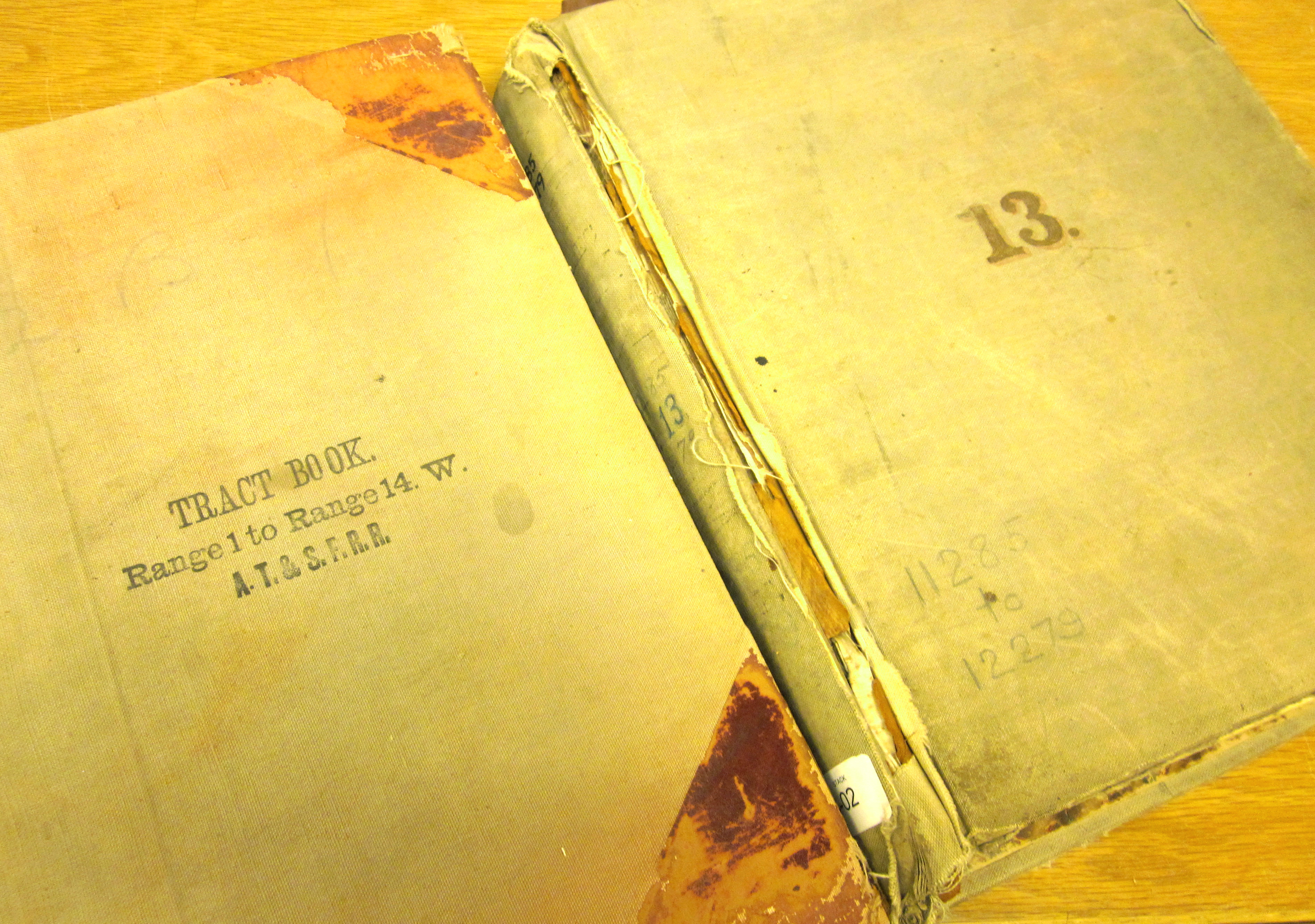 AT&SF Railroad Tract Book & Deed Record Volumes