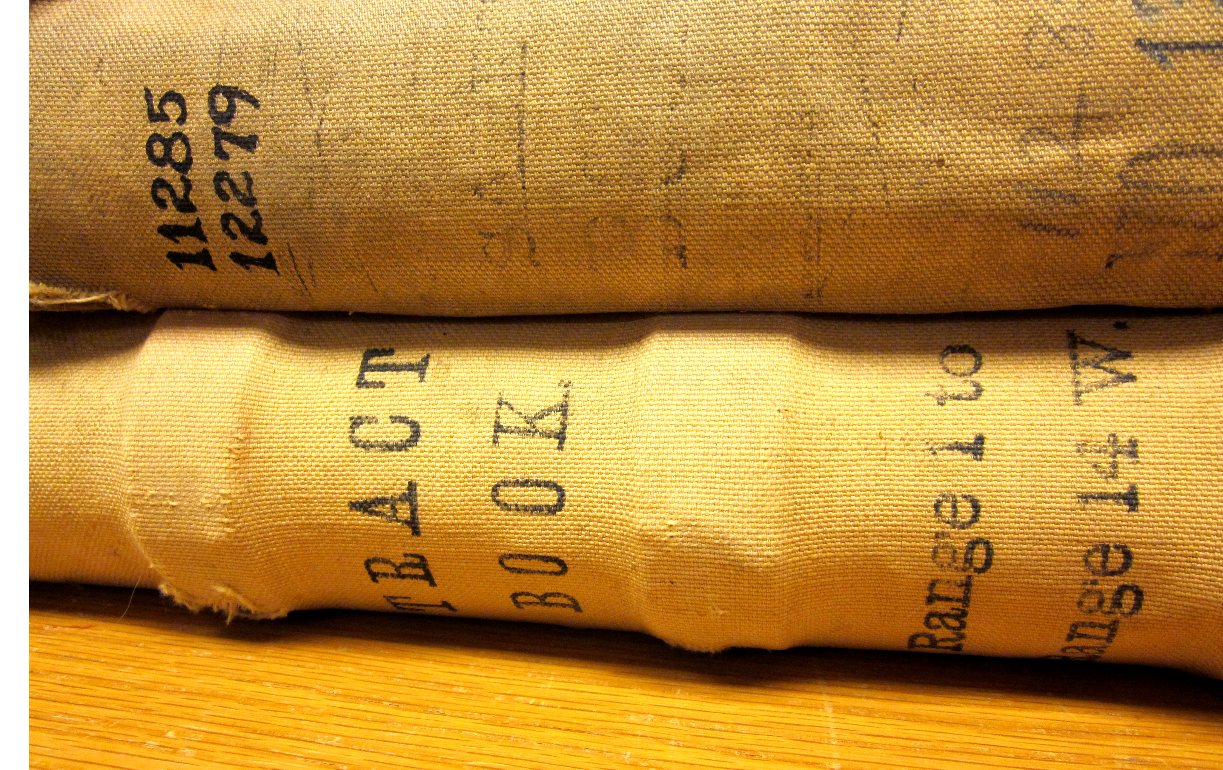 Photo of the spine of the AT&SF RR tract volume and the land sales volume