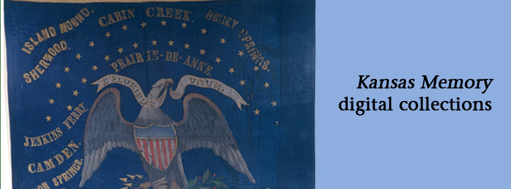 Kansas Memory: First Kansas Colored flag, between 1862 and 1964