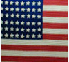 U.S. flag hand-crocheted by a visually-impaired woman to honor her soldier son