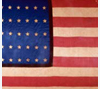 National flag used by the First Kansas Colored Infantry