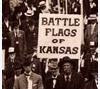 Civil War veterans marching their flags to the Memorial Building, Topeka, 1914