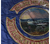 Silk regimental flag of the Twentieth Kansas Volunteer Infantry.