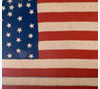 Flag quilt made by female drill squad during Spanish-American War