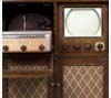 Combination TV, record player, and radio used by family in Delia, Kansas, ca. 1950