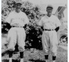 Members of the Narka town baseball team wearing their uniforms, ca. 1945
