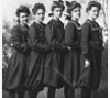 Topeka High School girls basketball team wearing bloomers, 1903