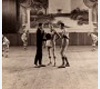 Basketball game in Randolph High School auditorium, ca. 1925