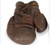 Boxing gloves worn by world heavyweight champion Jess Willard, ca. 1915