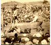 Jess Willard defeating Jack Johnson in Havana for world heavyweight title