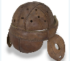 Leather and wool helmet from the Schmelzer Co. of Kansas City