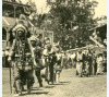 Pottawatomie Indians in the grand entry parade at a rodeo in Sidney, Iowa, 1935