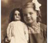 Beulah Griffis with her doll in Marshall County, ca. 1915