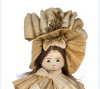Corn husk doll in 1890s dress