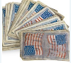 Civil War era playing cards featuring 34 star U.S. flags