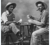 Playing cards in Mount Hope, Kansas, early 1900s.