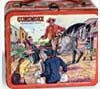 Lunch box depicting scenes from Gunsmoke TV series, 1955