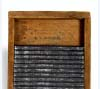 Toy washboard of pine and corrugated tin, ca. 1915