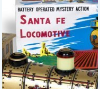 Toy Santa Fe locomotive, 1960s.