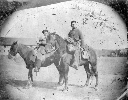 Members of the Third Wisconsin Cavalry at Fort Scott during the Civil War.
