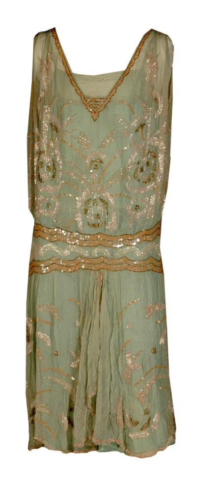 Beaded two-piece gown worn by Edith Davis Bowen of Topeka