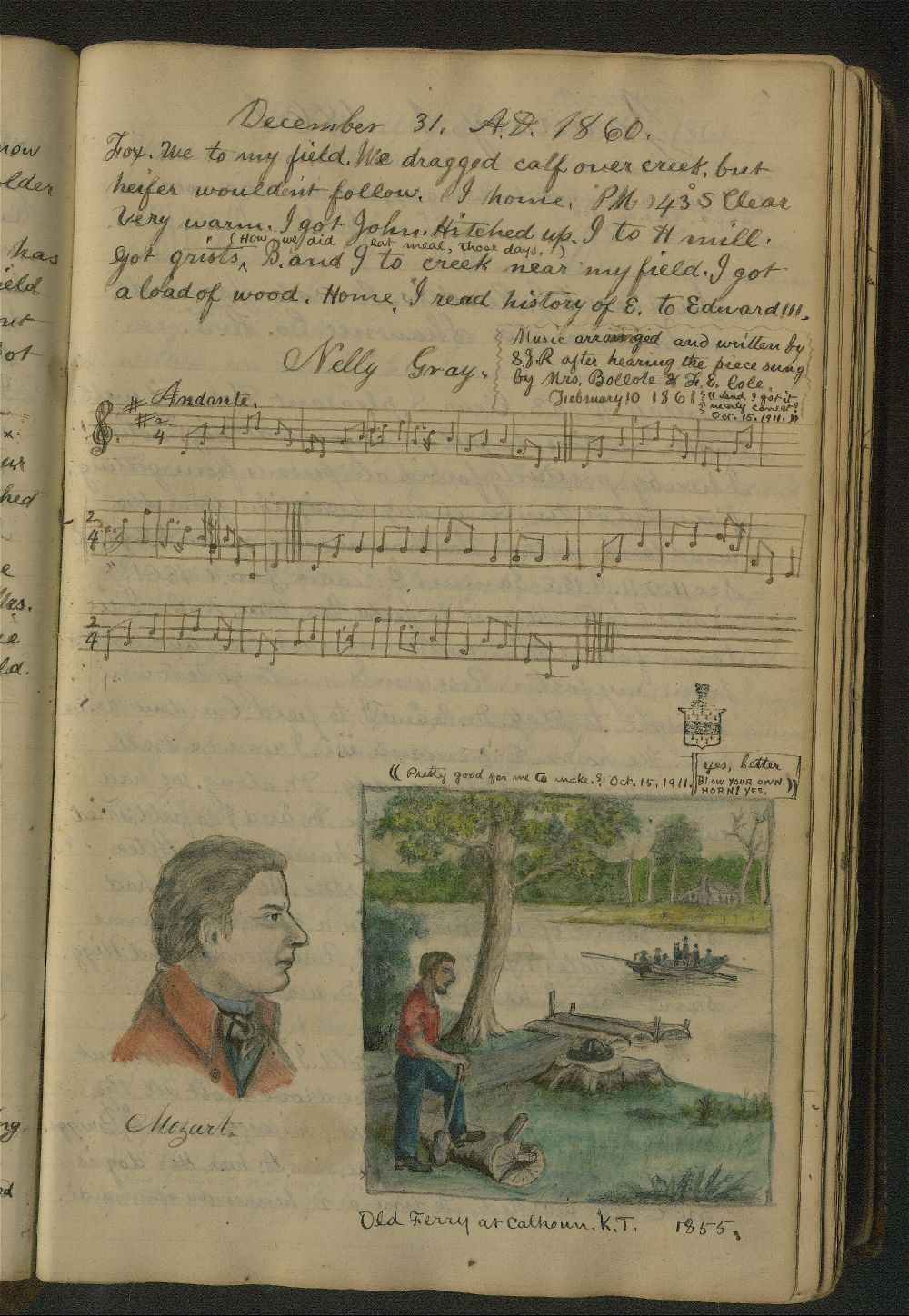 Page from the diary of Samuel Reader