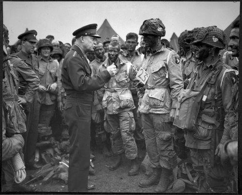 General Eisenhower in the field during WWII.