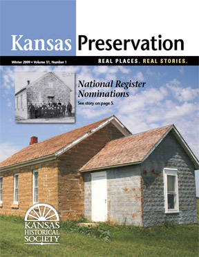 Kansas Preservation, Winter 2009