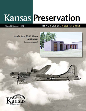 B-29 bomber on cover of Kansas Preservation magazine